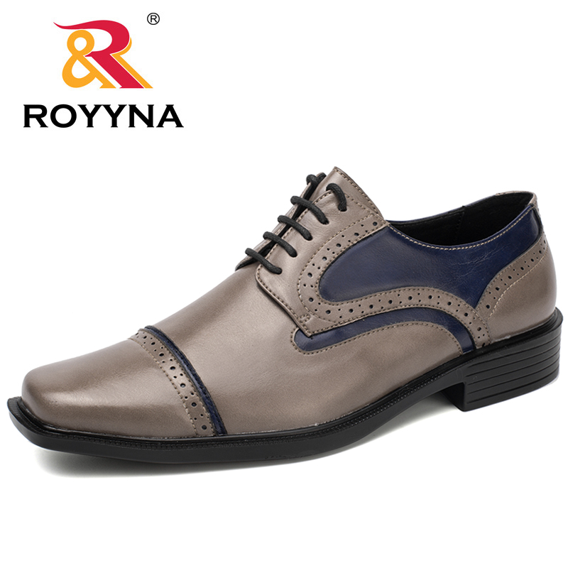 ROYYNA New Hot Style Men Formal Shoes Hand Made Men Office Shoes Lace Up Business Shoes