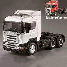 RC 3 скоростной автомобиль для 1:14 RC тягач 3 оси трактор с корпусом средней высоты кузова сборные комплекты Tamiya Scania R620 трактор