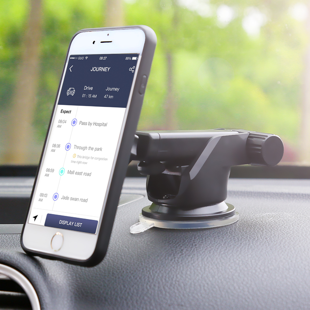 ET Mobile Phone Car Holder 360 Degree Rotation Car Dashboard Windshield Mount Cell Phone Stand Holder for iphone x 6 6s 7 8 Plus