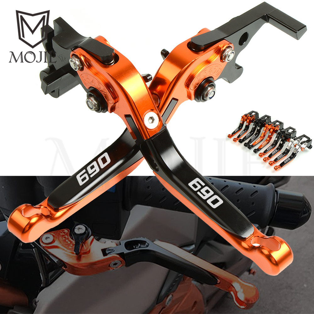 For KTM 690 SMC SMC-R Duke 690 Duke R 640 LC4 Supermoto 640 Duke II Motorcycle Adjustable Folding Extendable Brake Clutch Levers motorcycle adjustable foldable extendable cnc brake clutch levers with ktm logo for ktm 1190 adventure r 2013 2015 2014