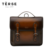 TERSE 2018 New Backpacks Preppy Style Calf Genuine Leather Bag for Women Men Handmade Laptop Back pack Customize Logo Wholesale