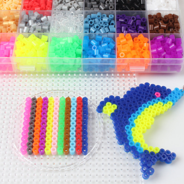 1000pcs/bag 5mm Hama Beads Puzzle Education Toy 48 Colors Jigsaw Puzzle Perler Beads 3D Puzzles Fuse Beads For Children