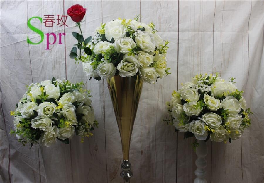 SPR Nya !! bröllopsväg leda blommor ros blommor ljusstake bord - Semester och fester