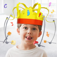 New 1:1 Food Crown Trick Hat Rotating Hat Trick People New Strange Toys Funny Board Games