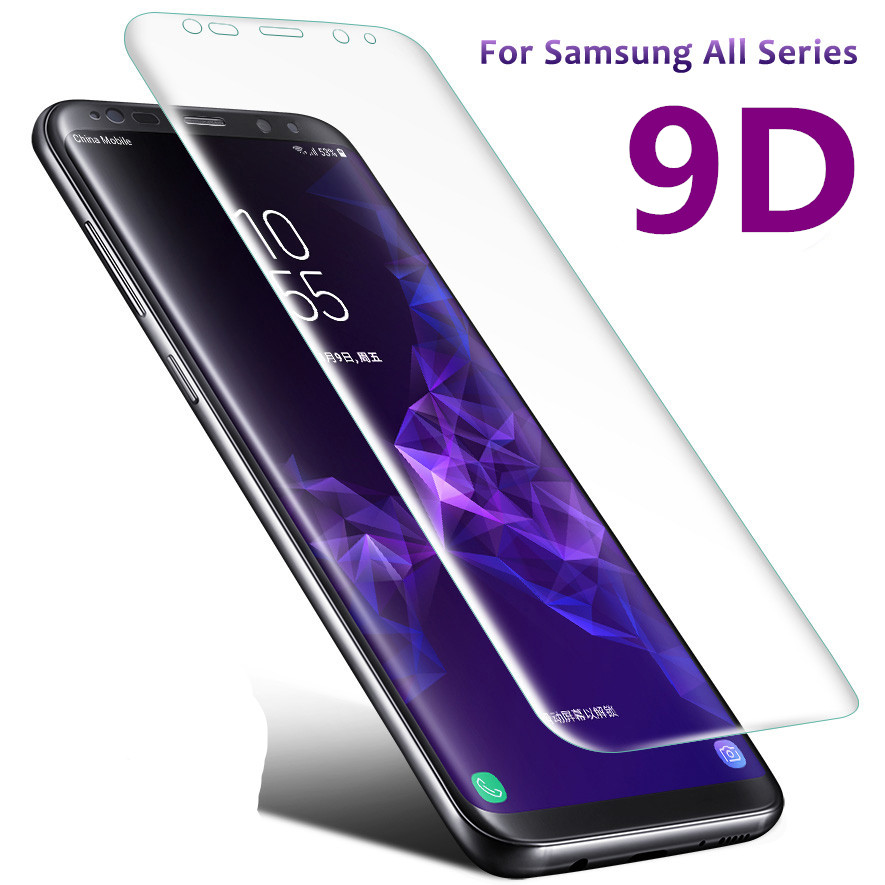 For Samsung Galaxy S9 S8 S7 S6 edge Plus 9H Full Cover Screen Protective Tempered Glass Protector Case For Samsung Note 8 Note 9