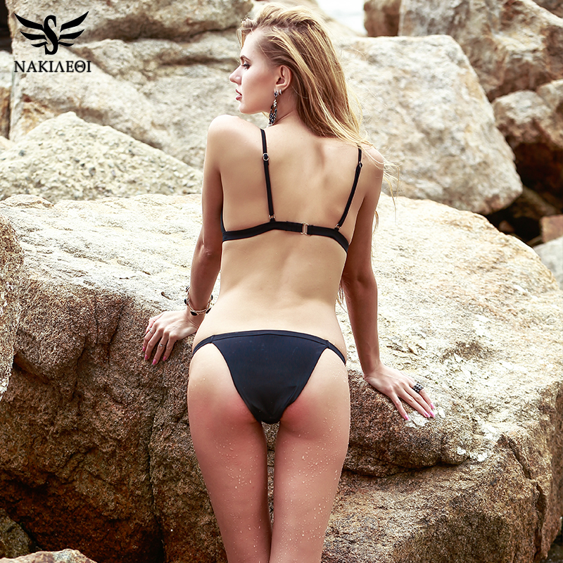 NAKIAEOI Sexy Micro Bikini Swimwear Women Swimsuit 2019 New Halter Brazilian Bikini Set Beach Bathing Suits Swim Wear Biquini 2