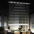 Современные 6-световые прямоугольные хрустальные светильники с креплением под дождем люстра лампа 90-260V G10 Бесплатная доставка