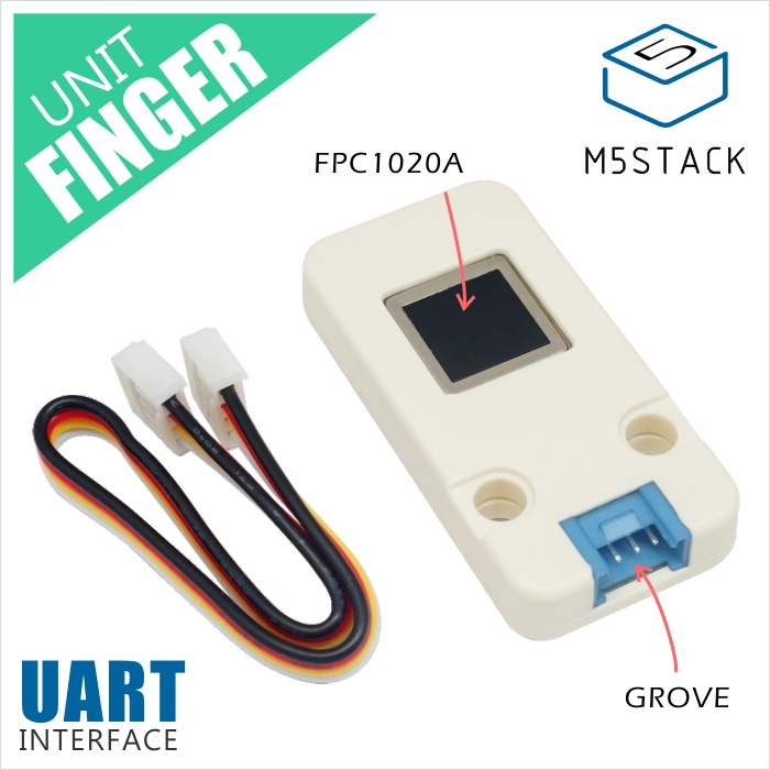 M5Stack Official Finger Print Unit FPC1020A Capacitive Fingerprint Identification Module Grove Cable UART Interface For ESP32