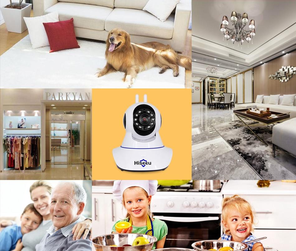 HTB1a1nncQ9E3KVjSZFGq6A19XXaG Hiseeu Home Security 1080P 3MP Wifi IP Camera Audio Record SD Card Memory P2P HD CCTV Surveillance Wireless Camera Baby Monitor