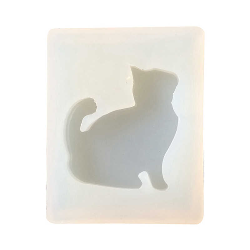 DIY Silicone Mold Cat Model UV Glue AB Diamond Crystal Drops of Glue Pendant