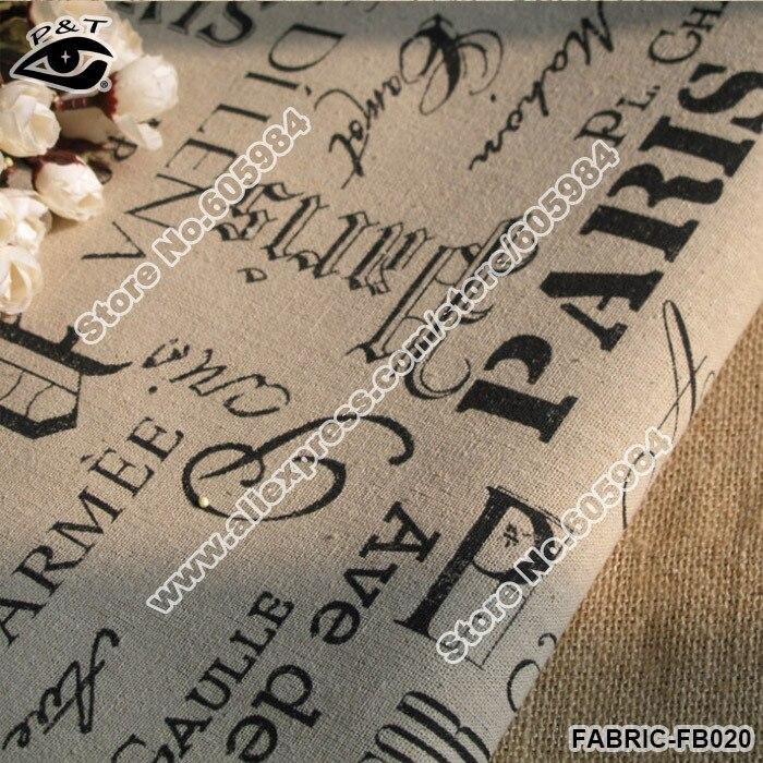 Tessuto di cotone stampato scritte parigi alto 150 cm 9001C