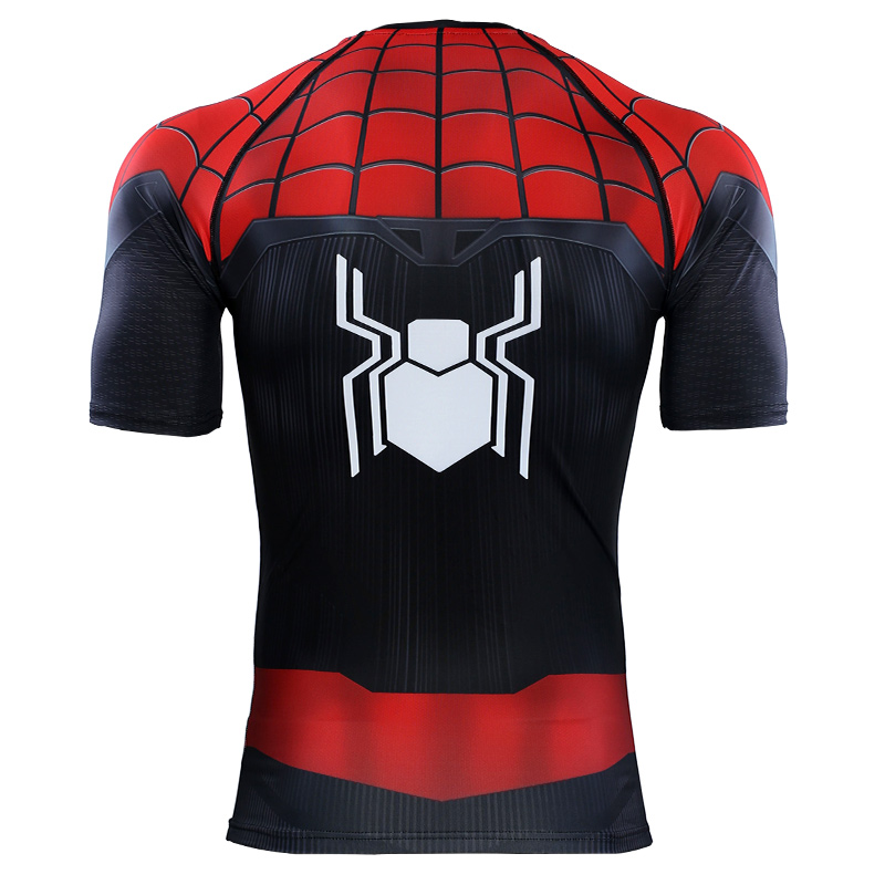 New Spider Man Far From Home Slim T shirt Spiderman Quick Drying Short Sleeve T Shirts Mens Spring Autumn Casual Clothes Top Tee in T Shirts from Men 39 s Clothing