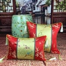 Cojín de Estilo chino Decoración de La Boda Rojo de Poliéster algodón Home Decor Sofá Decorativa Throw Pillow Almofada