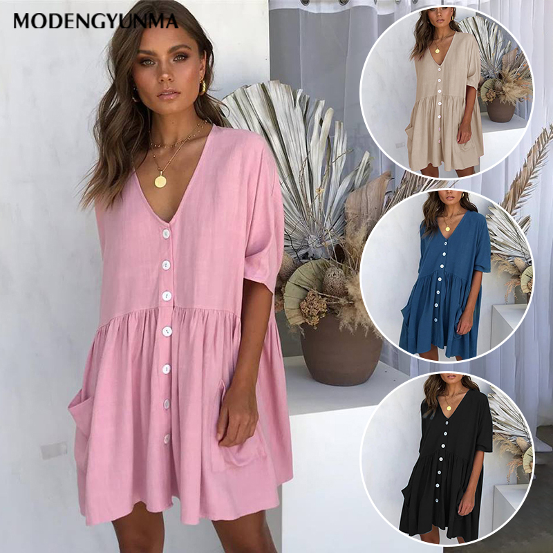 Dresses Summer Short Sleeve Casual Loose Dress Maternity Clothes For Pregnant Women Vestidos Gravidas Lady Dress Pregnancy Dresses Mother & Kids
