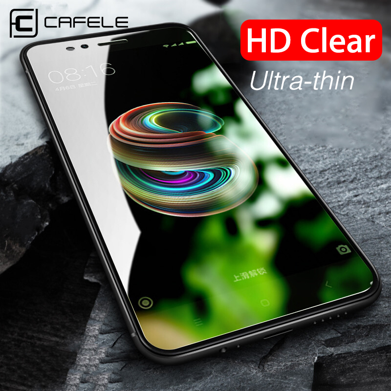 CAFELE Tempered Glass For Xiaomi Mi 9 9t Pro 9se 8 6 5s A1 Mix 2 2s Screen Protector For Redmi Note 7 8 Pro K20 Pro 2.5D HD Film
