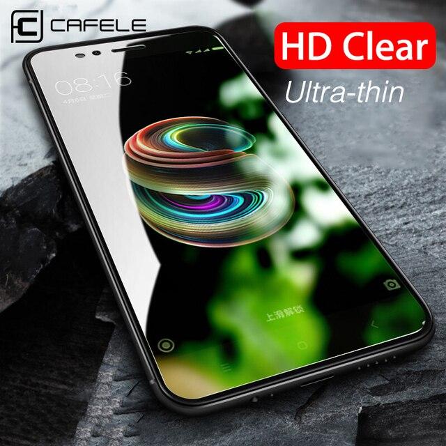 CAFELE الزجاج المقسى ل Xiaomi مي 9 9t برو 9se 8 6 5s A1 مزيج 2 2s شاشة حامي ل Redmi ملاحظة 7 8 9 الموالية K20 برو 2 HD فيلم