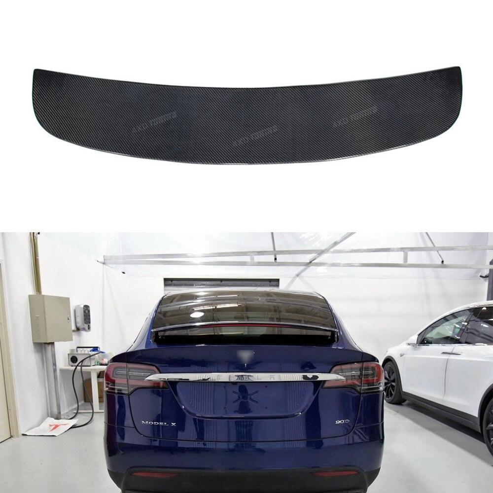 For Tesla Model X Carbon Rear Spoiler Original Style Carbon Fiber Rear Spoiler Rear Trun ...
