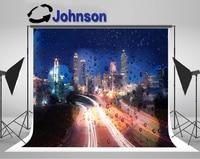 wall photo backdrop High quality Computer print Night Sky Atlanta Super City Skyline Lights Bokeh photography backgrounds