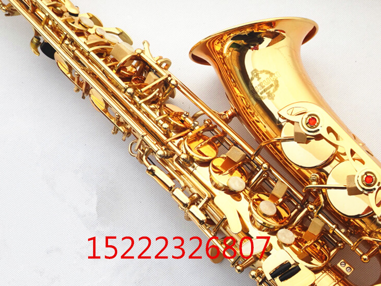 E flat alto saxophone sax musical instrument electrophoresis gold to send teaching reed shipping - 2