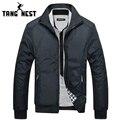 Tangnest chaquetas de los hombres 2017 de los hombres nueva primavera regular escudo chaqueta delgada chaqueta ocasional de la alta calidad para hombre al por mayor mwj682
