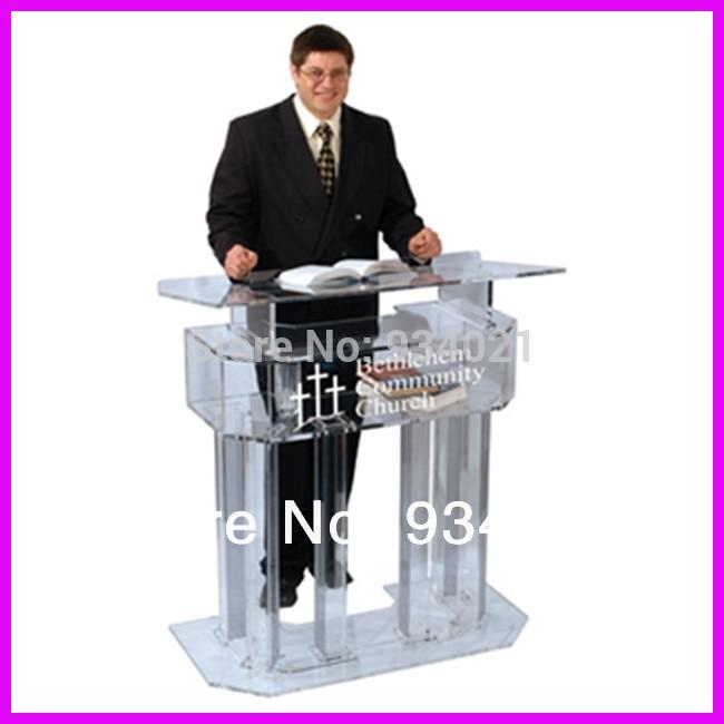 Durable acrylic desktop lectern/desktop pulpit/desktop podium acrylic desktop lectern acrylic classroom lectern podium acrylic podium products