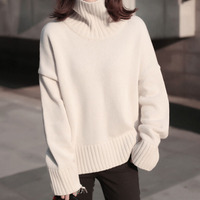 2017 Autumn And Winter Korean Style New Sweaters Women Solid Color Loose Thick Women Sweater Casual