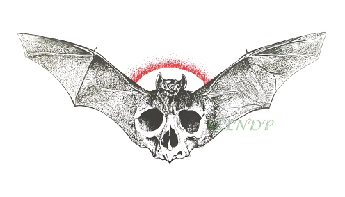 Waterproof Temporary Tattoo Sticker Halloween Skull Head Bat Tatto Stickers Flash Tatoo Fake Tattoos For Men Girl Women Kids