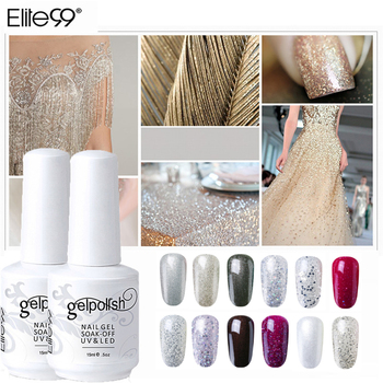 Elite99 Gel Nagellack Glitter LED UV Gel Lack Nail art Lack Soak Off Gel Lack 15ml Nagellack nail art Design