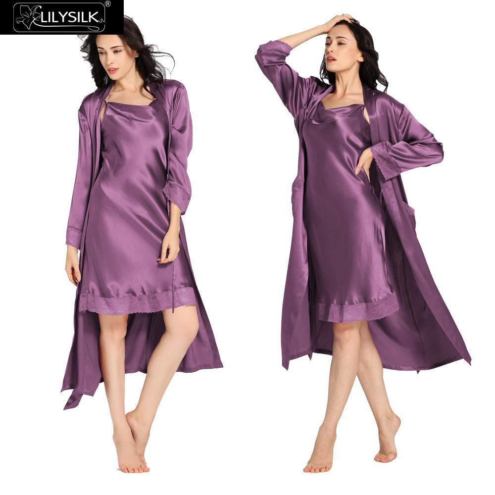 1000-violet-22-momme-lace-long-silk-nightgown-&-dressing-gown-set