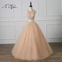 ADLN Champagne Quinceanera Dresses New Sweet 15 Dress Debutante Heavily Beaded Two Pieces Masquerade Gown
