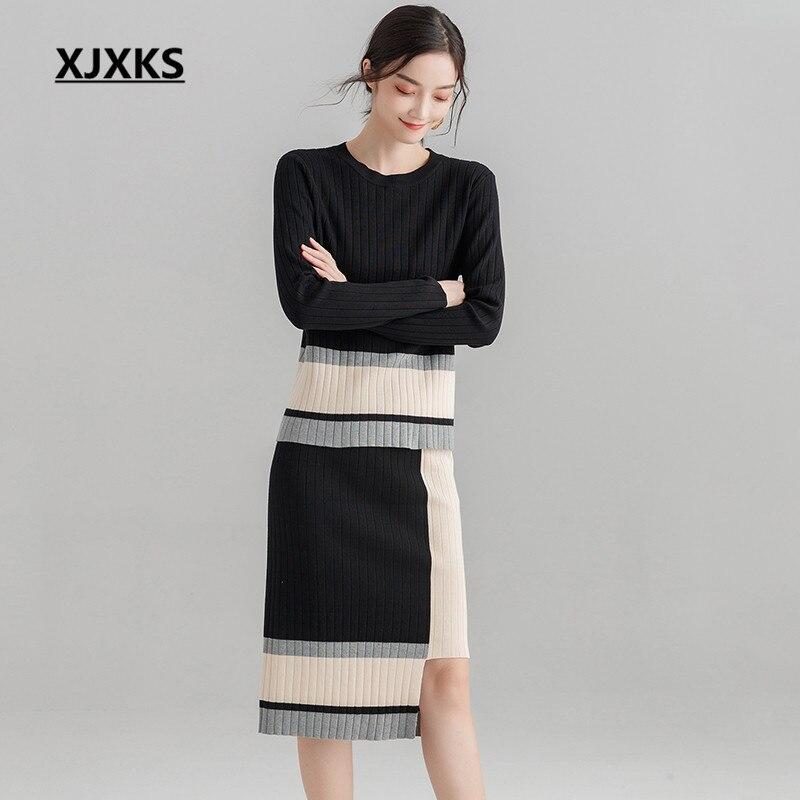 Beige Qualité Chandail Tricoter Jupes Pull Jeunes Haute Femmes Deux 45L3AjqR