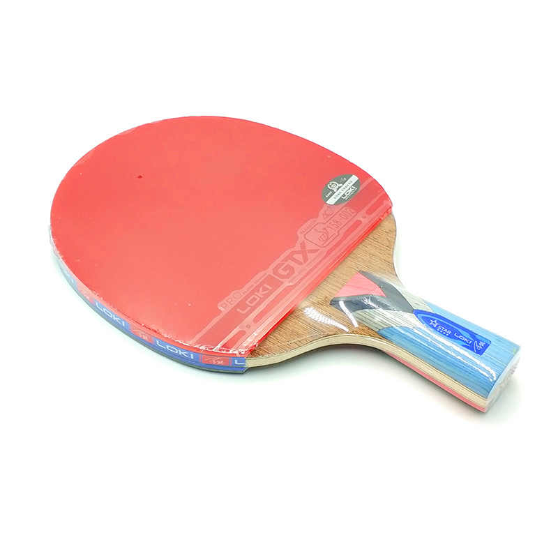LOKI 4 Star Carbon Table Tennis Racket Wenge Wood Table Tennis Bat Pimples In Rubber Ping Pong Racket Pingpong Bat with Bag