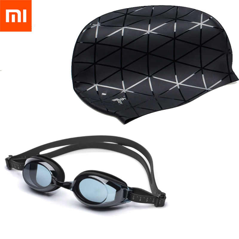 Xiaomi Mijia Smart Home TS Swimming Goggles Waterproof Silicone Glasses 3D Adult Eyewear Adjustable For Women Men with 7th Cap
