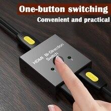 HDMI Switcher 2 port çift yönlü 1x2/2x1 HDMi 4K Switcher çıkış adaptörü splitter HD 4K TV PS3/PS4 TV kutusu HDMI dağıtıcı