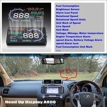 цена на Car HUD Head Up Display For Toyota Land Cruiser LC 200 LC200 2008 ~ 2015 Refkecting Windshield Screen Driving Screen Projector