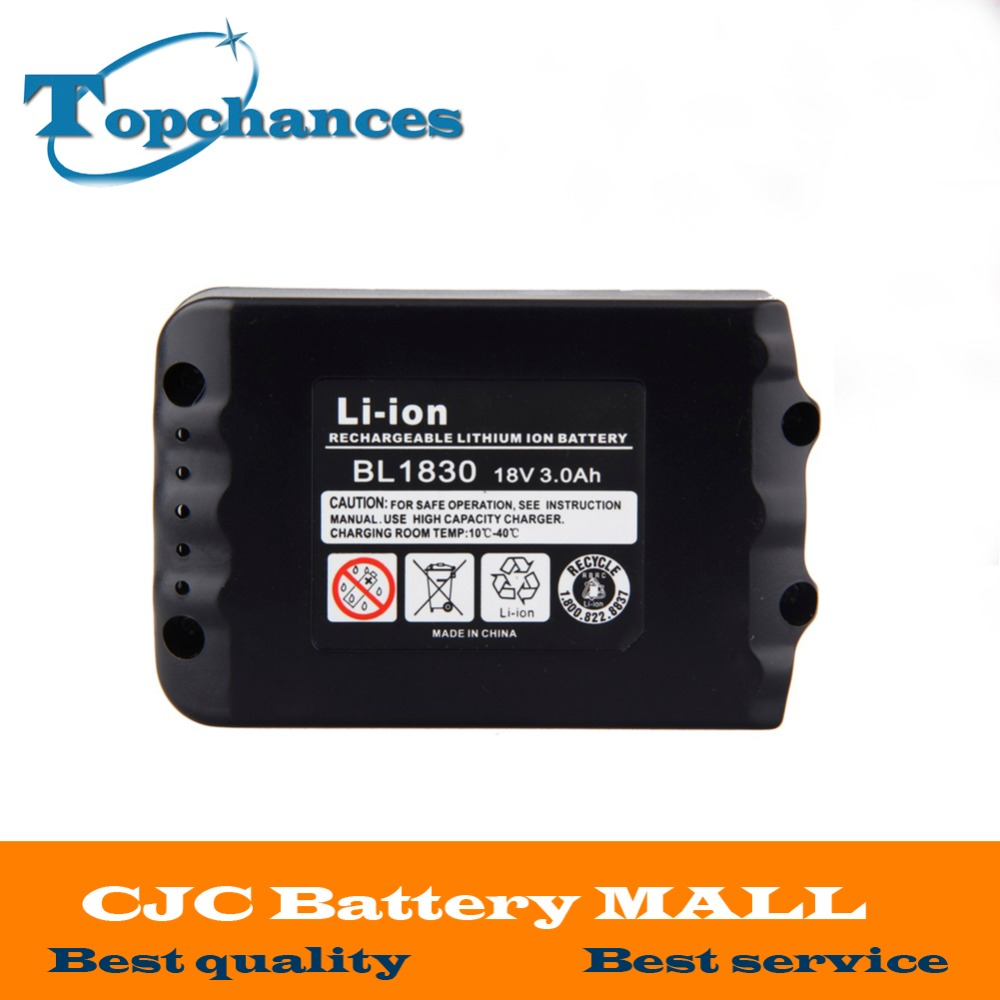 CE Testified 18V 3000mAh High Capacity Li-ion Bateria Battery Batteries for Makita 194205-3 LXT-400 BL1830 BL1815 BL1835 ce testified replacement power tool rechargeable battery for bosch 14 4v li ion 3 0ah 2607335711 bat038 bat040 bat041 bat140
