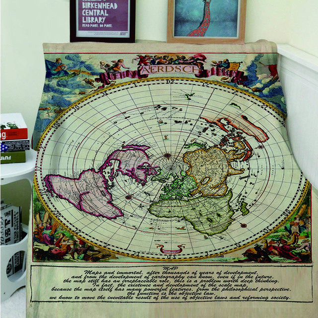 Pirate World Map.Blankets Cobertor Warmth Soft Plush Retro Sailing Map Pirate World