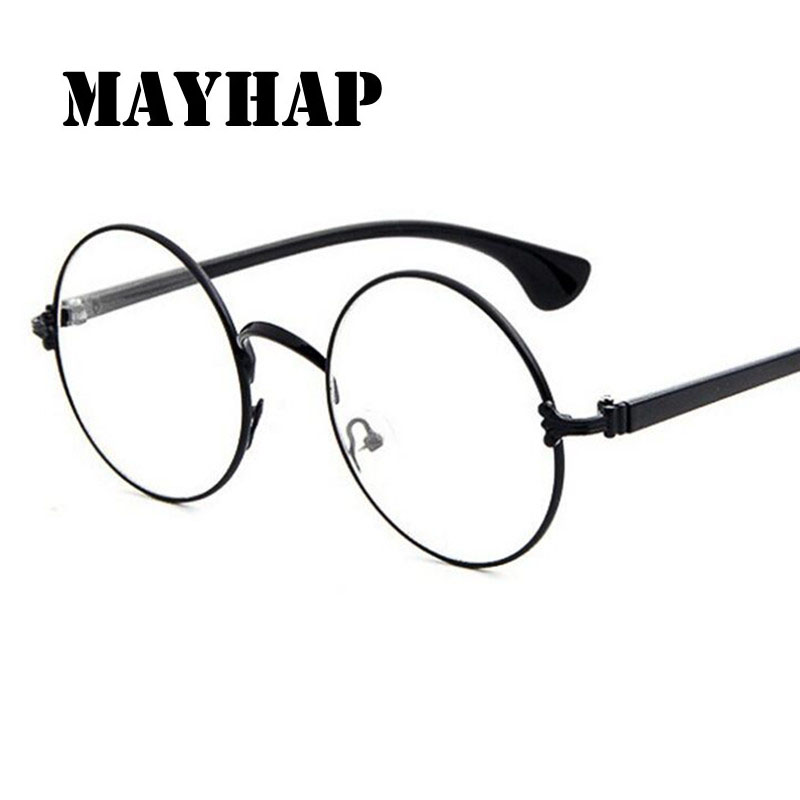 6a0a8bd31c8a1 Best buy MAYHAP Men women Round Sunglasses Retro Metal Frame Eyeglasses  Korean Optical Circle Plain Mirror Reading Gothic Glasses legs online cheap