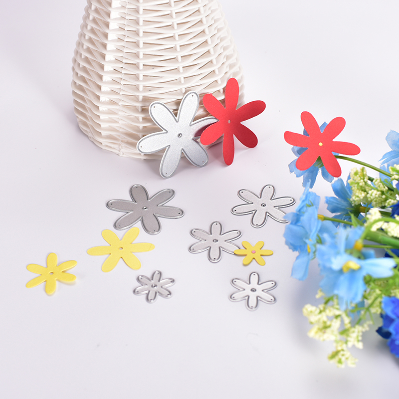 DIY Embossed Layers Flowers Cutting Template Album Card Tools Multi layer Petals Cutting Dies Stencils Template P20