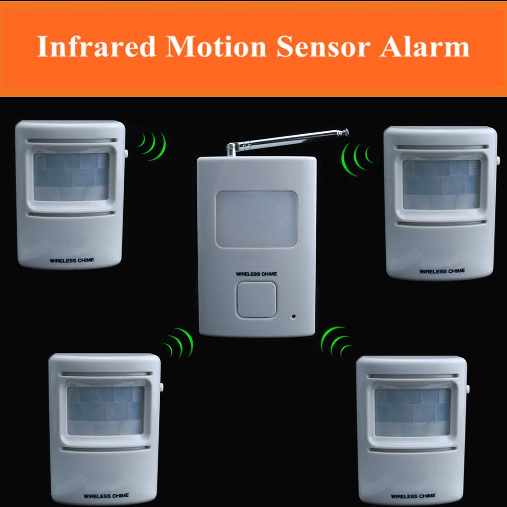 Wireless Home Garage Driveway Business Office Motion Alert Indoor Outdoor  Infrared Detector Security Alarm System Kit On Aliexpress.com | Alibaba  Group
