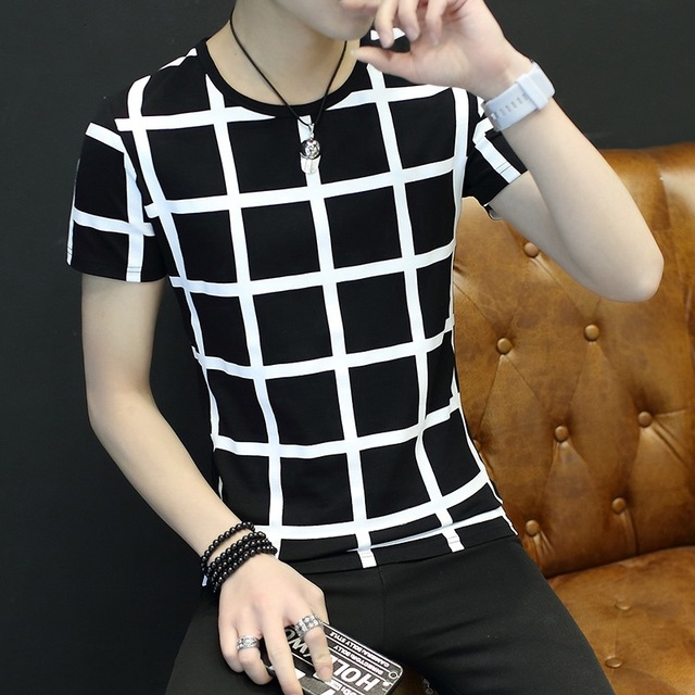 Summer 2019 new men's short-sleeved t-shirts, half-sleeves, Korean fashion, summer clothes, students' personality men's wea