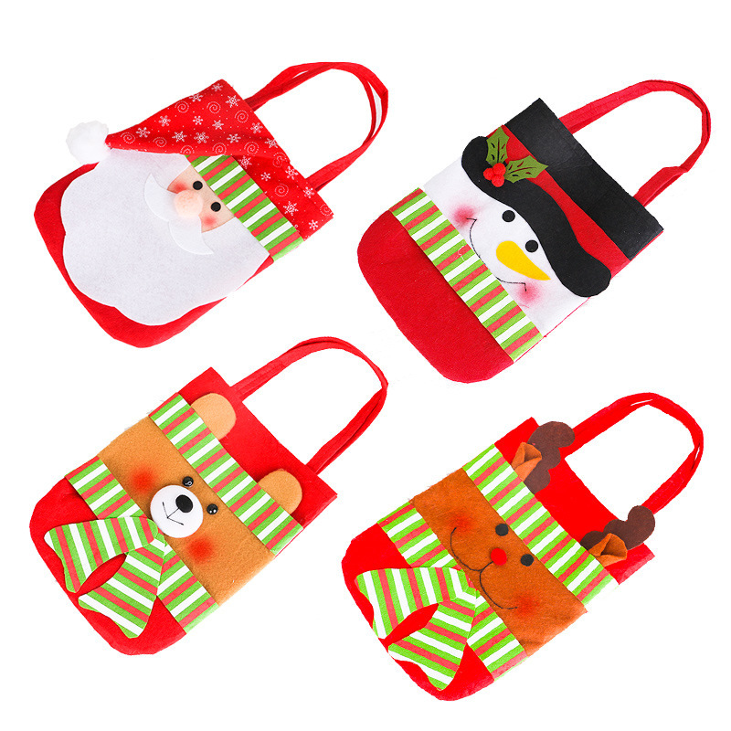 Snowman of Christmas articles non-woven old portable small goodie gift bags Christmas decorations