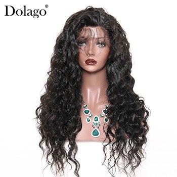 Baza jedwabiu luźna fala peruki typu lace z ludzkich włosów Pre oskubane linii włosów brazylijski Remy włosy przednie włosów peruka z dzieckiem włosy Dolago