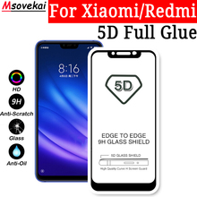 hot deal buy tempered glass film for xiaomi mi 8 lite mi 8 se 6x 5x a1 a2 lite redmi 6 pro redmi 6a mix 2s 5d 9d full glue screen protector