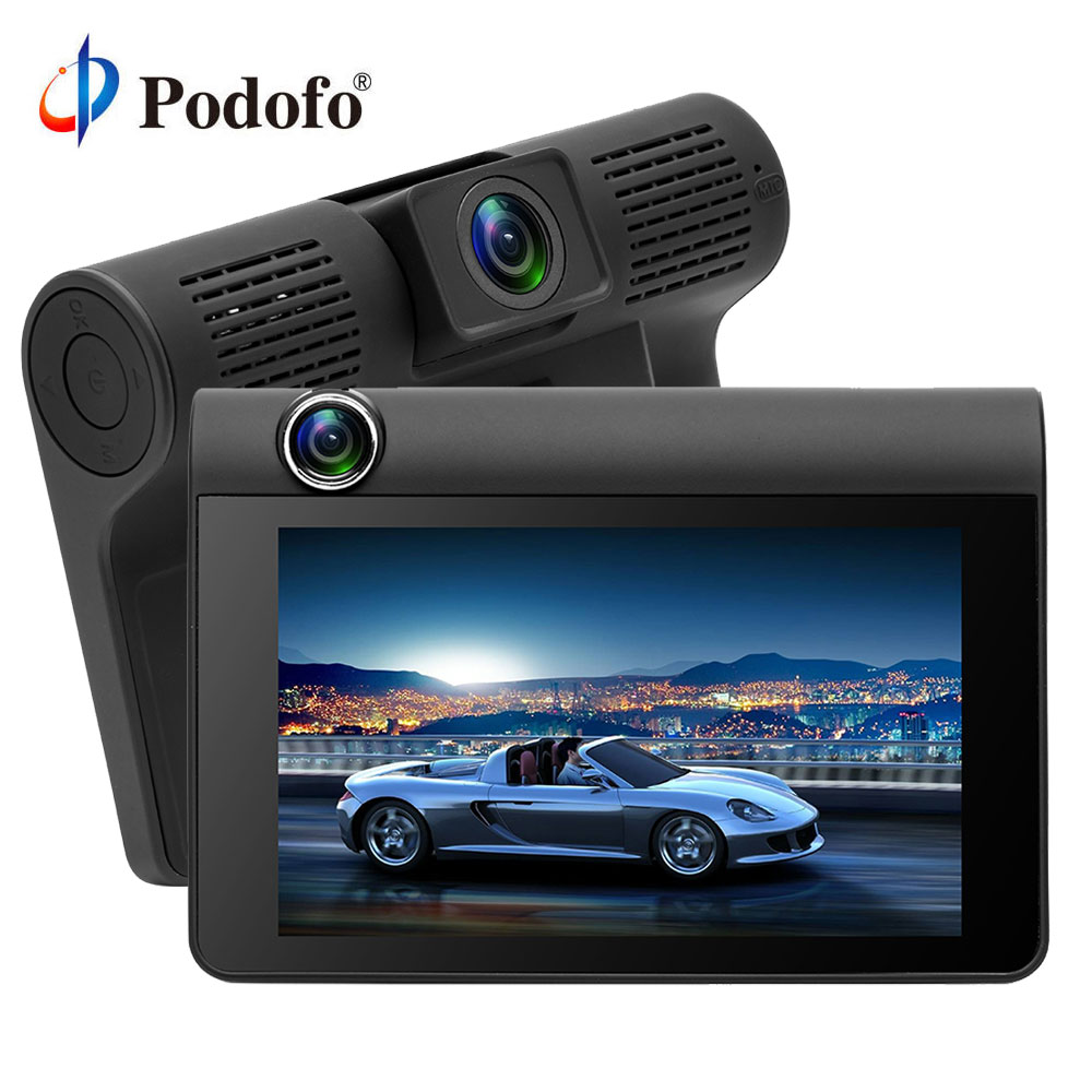 Podofo Car DVR Dash-Cam Rear-View-Camera Dual-Lens Auto-Registrator Video G-Sensor Recordernight-Vision