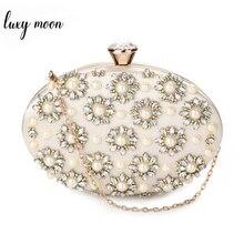 Wykwintna zroszony torba wieczorowa dla kobiet codzienne kopertówki elegancka perła dżetów Party Holder specjalna torebka damska w kształcie jajka ZD1034