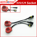 2X 35W 12V HID cable socket  for D2R D2C D2S  D2 adapter for hid xenon bulb Headlight D2C/S connector D2 cable line