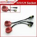 2X35 W 12 V ESCONDEU tomada cabo para D2S D2R D2C D2 adaptador para lâmpada xenon hid Farol D2C/S linha de cabo conector D2