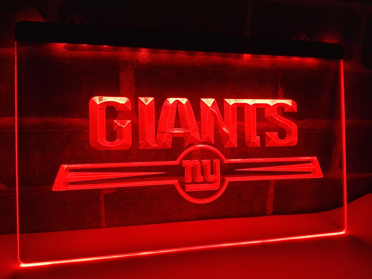 Ld051 Ny New York Giants Bar Logo Led Neon Light Sign Home Decor Crafts In Plaques Signs From