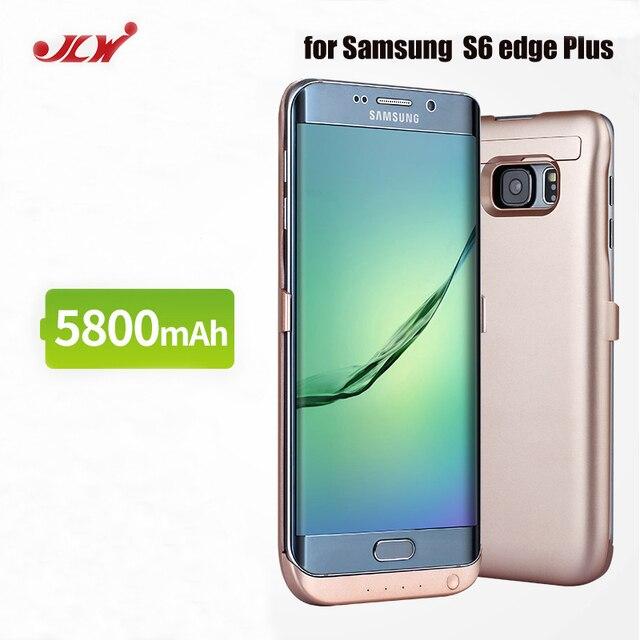 JLW 5800 mAh pil şarj cihazı Durumda fr Samsung S6 Kenar Artı Harici Klip Pil Yedekleme Şarj Edilebilir Kılıf Kapak fr Galaxy S6 kenar +